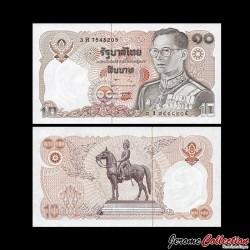 THAILANDE - Billet de 10 Baht - 1980