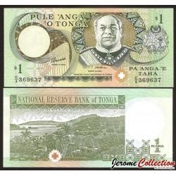 TONGA - Billet de 1 Pa'anga - Roi George Taufa'ahau IV Tupou - 1992 / 2006