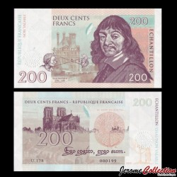 FRANCE - Billet de 200 Francs - Descartes - 2015