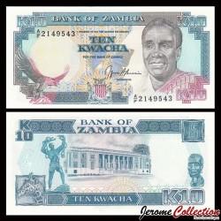 ZAMBIE - Billet de 10 Kwacha - 1991