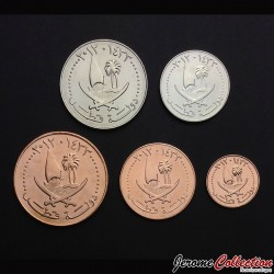QATAR - SET / LOT de 5 PIECES - 1 5 10 25 50 Dirhams - 2012