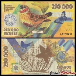 ELOBEY GRANDE - Billet de 250000 Ekuele - Oiseau Amadine cou-coupé - 2017