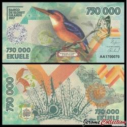 ELOBEY GRANDE - Billet de 750000 Ekuele - Oiseau Martin-pêcheur pygmée - 2017