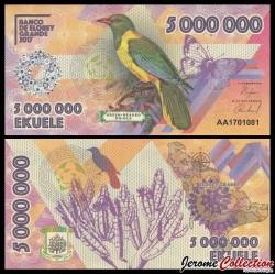 ELOBEY GRANDE - Billet de 5000000 Ekuele - Oiseau Loriot à tête verte - 2017