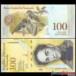 VENEZUELA - Billet de 100000 Bolivares - 07 09 2017