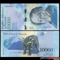 VENEZUELA - Billet de 10000 Bolivares - 18 08 2016