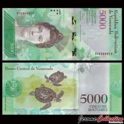 VENEZUELA - Billet de 5000 Bolivares - 18 08 2016