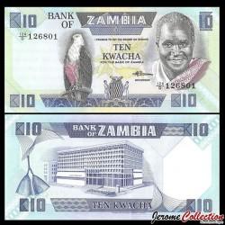 ZAMBIE - Billet de 10 Kwacha - 1988