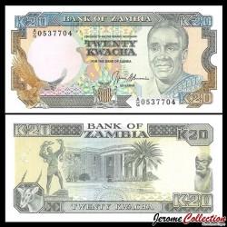 ZAMBIE - Billet de 20 Kwacha - 1991