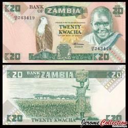 ZAMBIE - Billet de 20 Kwacha - 1988