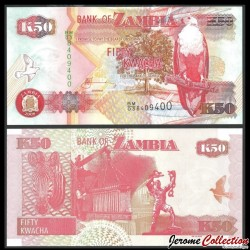 ZAMBIE - Billet de 50 Kwacha - 2008