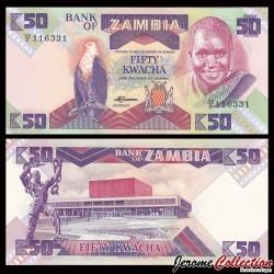 ZAMBIE - Billet de 50 Kwacha - 1988