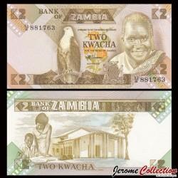ZAMBIE - Billet de 2 Kwacha - 1988