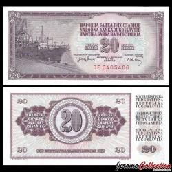 YOUGOSLAVIE - Billet de 20 Dinara - 19 XII 1974