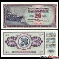 YOUGOSLAVIE - Billet de 20 Dinara - 04 XI 1981