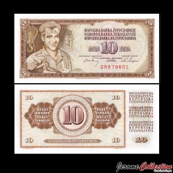 YOUGOSLAVIE - Billet de 10 Dinara - 1 V 1968