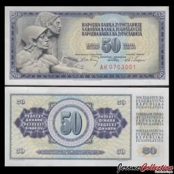 YOUGOSLAVIE - Billet de 50 Dinara - 1 V 1968 P83c