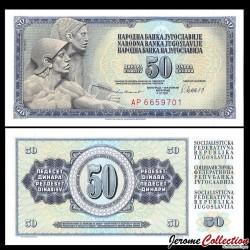 YOUGOSLAVIE - Billet de 50 Dinara - 4 XI 1981