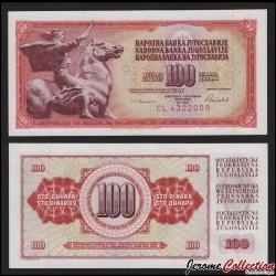 YOUGOSLAVIE - Billet de 100 Dinara - 16 V 1986 P90c