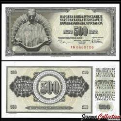 YOUGOSLAVIE - Billet de 500 Dinara - 12 VIII 1978 P91a