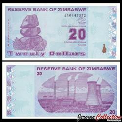 ZIMBABWE - Billet de 20 DOLLARS - 2009