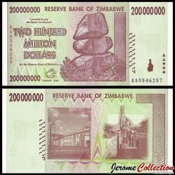 ZIMBABWE - Billet de 200000000 DOLLARS - 2006