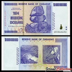 ZIMBABWE - Billet de 10000000000 DOLLARS - 10 Billions - 2008 P85a
