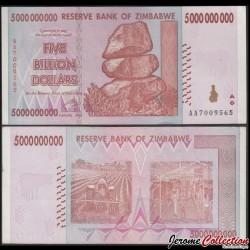 ZIMBABWE - Billet de 500000000 DOLLARS - 5 Billions - 2008