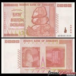 ZIMBABWE - Billet de 5000000000 DOLLARS - 50 Billions - 2008
