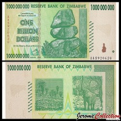 ZIMBABWE - Billet de 1000000000 DOLLARS - 1 Billion - 2008