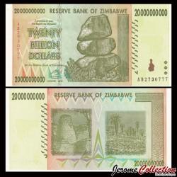 ZIMBABWE - Billet de 20000000000 DOLLARS - 20 Billions - 2008