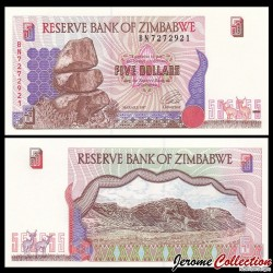ZIMBABWE - Billet de 5 DOLLARS - 1997