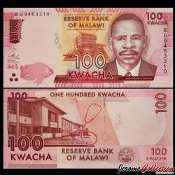 MALAWI - Billet de 100 Kwacha - 2017
