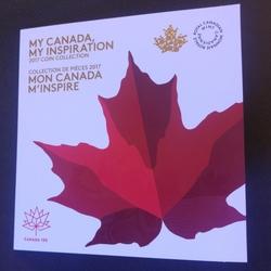 CANADA - ALBUM de 7 PIECES - 150 ans du CANADA - 5 10 25 50 CENTS - 1 2 DOLLARS - 2017 - Colorisée