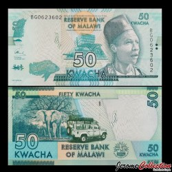 MALAWI - Billet de 50 Kwacha - 2017