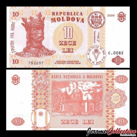 MOLDAVIE - Billet de 10 Lei - 2009 P10f