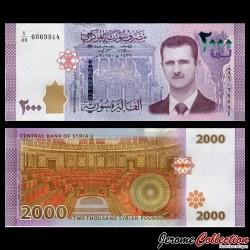 SYRIE - Billet de 2000 Pounds - Bashar Hafiz al-Assad - 2015