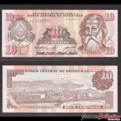 HONDURAS - Billet de 10 Lempiras - 30.08.2001