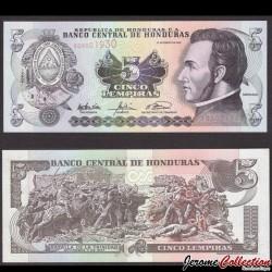 HONDURAS - Billet de 5 Lempiras - 23.01.2003