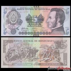 HONDURAS - Billet de 5 Lempiras - 01.03.2012
