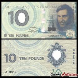 ILE SIPLE - Billet de 10 Pounds - Paul Allman Siple - 2017 0010p