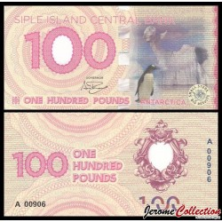 ILE SIPLE - Billet de 100 Pounds - Manchot sur la banquise - 2017 0100p