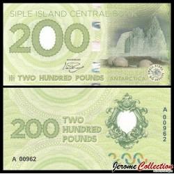 ILE SIPLE - Billet de 200 Pounds - Igloos sur la banquise - 2017