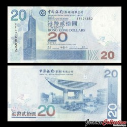 HONG KONG - Bank Of China (Hong Kong) Ltd - Billet de 20 DOLLARS - 2007