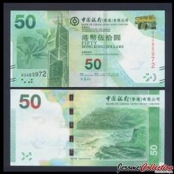 HONG KONG - Bank Of China (Hong Kong) Ltd - Billet de 50 DOLLARS - 2014 P342d