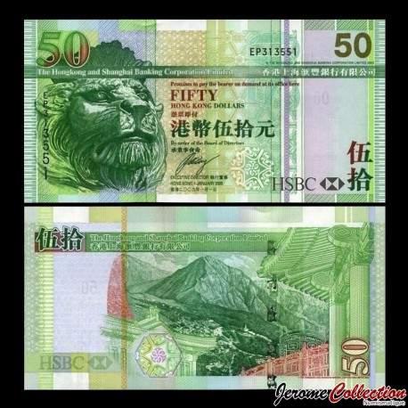 HONG KONG - HSBC - Billet de 50 DOLLARS - 2009 P208f