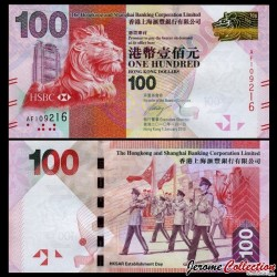 HONG KONG - HSBC - Billet de 100 DOLLARS - 2010