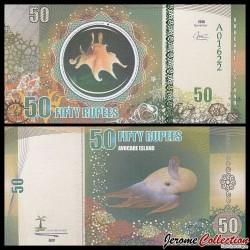 AVOCARE ISLAND / ILE MAURICE - Billet de 50 Roupies - Poulpe - 2016 0050