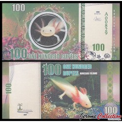 AVOCARE ISLAND / ILE MAURICE - Billet de 100 Roupies - Axolotl - 2016