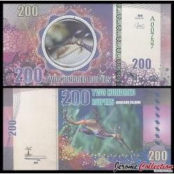 AVOCARE ISLAND / ILE MAURICE - Billet de 200 Roupies - Axolotl - 2016 0200
